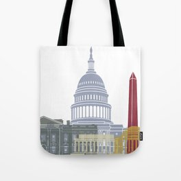 Washington DC skyline poster Tote Bag