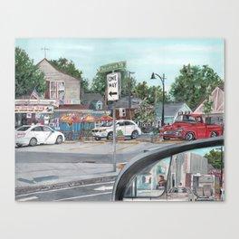 The Scotty Dog Beverly Massachusetts One Way Street Scene Canvas Print