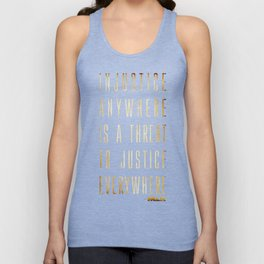 Martin Luther King Typography Quotes Unisex Tank Top