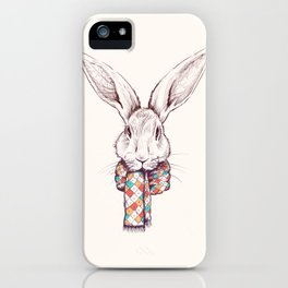 Bunny and scarf iPhone Case