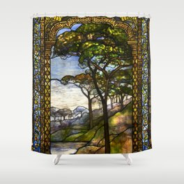 Louis Comfort Tiffany - Decorative stained glass 14. Shower Curtain