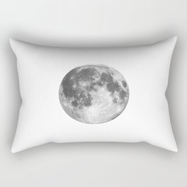 Full Moon phase print black-white monochrome new lunar eclipse poster home bedroom wall decor Rectangular Pillow