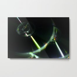 Stack of Compact Discs Abstract 7 Metal Print