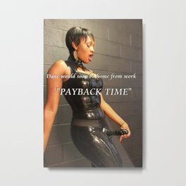 Funny,Comedy & Humor sexy wife, pay back time photo Metal Print