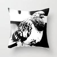 pigeon Throw Pillows featuring Pigeon by Manford Holmes