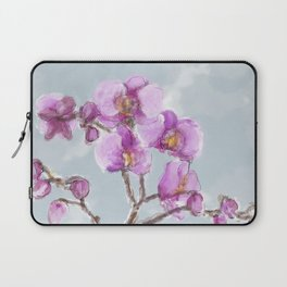 Watercolor Orchids Laptop Sleeve