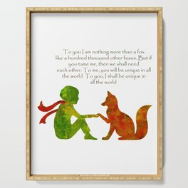 Little Prince Quote Serving Tray