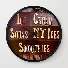 Ice Cream, Sodas, NY Ices, & Smoothies Wall Clock