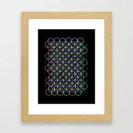 Circles of colours Framed Art Print