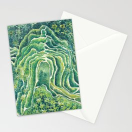 Holiday breeze_ Rice Terrace Indonesia landscape_watercolor Stationery Cards