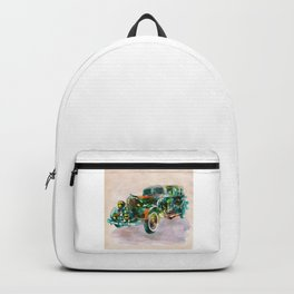 Vintage Car in watercolor Backpack