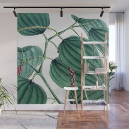 Green leaves I Wall Mural