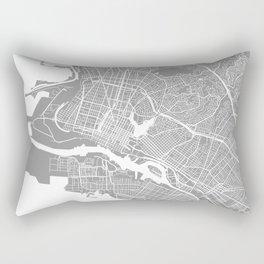 Oakland CA map grey Rectangular Pillow