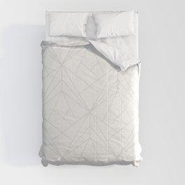 Geometric White Gray Modern Pattern  Comforters