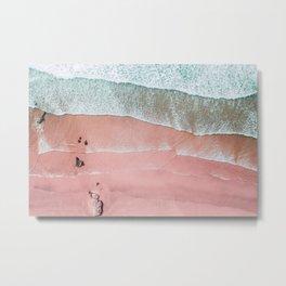 Beach Wall Art, Pink Beach Print, Aerial Beach Photography, Aerial Beach, Bondi Beach, Coastal Print Metal Print