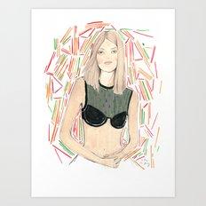 Pick Up Stix  Art Print