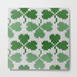 Shamrock pattern St Patrick Metal Print
