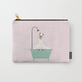 Llama Enjoying Bubble Bath Tasche