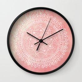 Pink Mandala Wall Clock