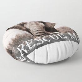 Elephant Rescue Floor Pillow