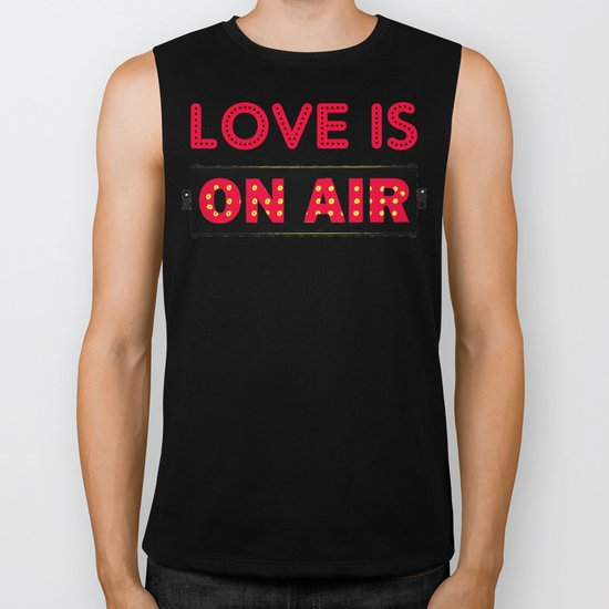 Love is On Air Biker Tank