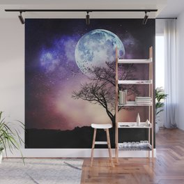Moon and Tree Wall Mural