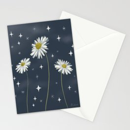 Galactic Daisies Stationery Cards