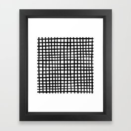Hand-painted Grid Framed Art Print