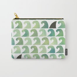Waves and Shark fins Carry-All Pouch