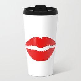 Red lips Travel Mug