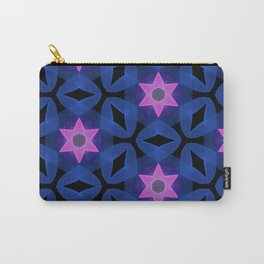 Six Pointed Pink Star on Indigo Carry-All Pouch