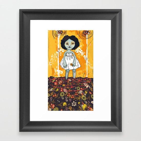 Yellow Flower Room Framed Art Print