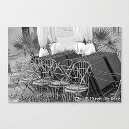 Terrasse à Aix en Provence Canvas Print