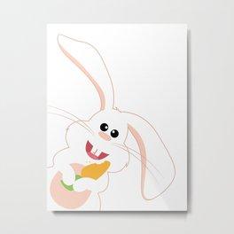 Bunny and his Carrot Metal Print