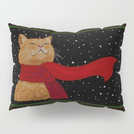 Knitted Wintercat Pillow Sham