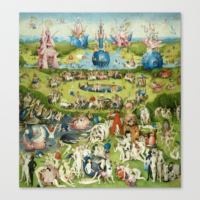 The Garden of Earthly Delights by Hieronymus Bosch Canvas Print by  fineearthprints