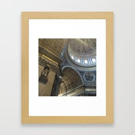 St. Peter's Basilica Ceiling Pattern Framed Art Print
