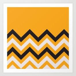 Orange Zigzag Art Print