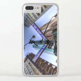 New York Street Sign Clear iPhone Case
