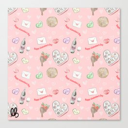 Galentine's Day Pattern Canvas Print