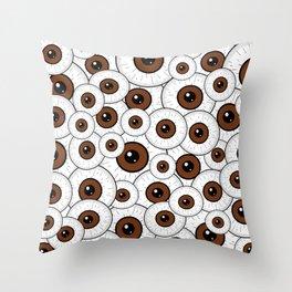 Brown Eyes Throw Pillow