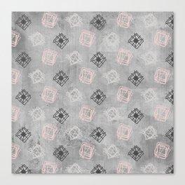 Contemporary Concrete Grit Pattern Canvas Print