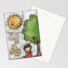 Be the Light (with dog) Stationery Cards