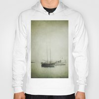 boats Hoodies featuring Two boats by Victoria Herrera