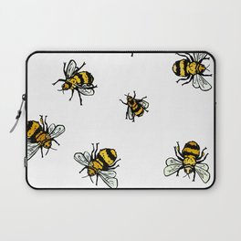 Just Some Beez A - White Laptop Sleeve