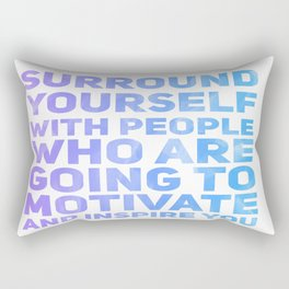 Surround Yourself Quote Purple & Blue Rectangular Pillow