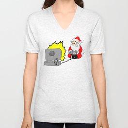Santa Video Game Christmas Shirt Unisex V-Neck