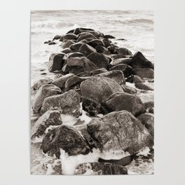 Breakwater on the Baltic Sea 2 Poster