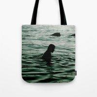 siren Tote Bags featuring SIREN by Taryn Jayne