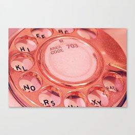 Vintage Telephone Photograph  Canvas Print